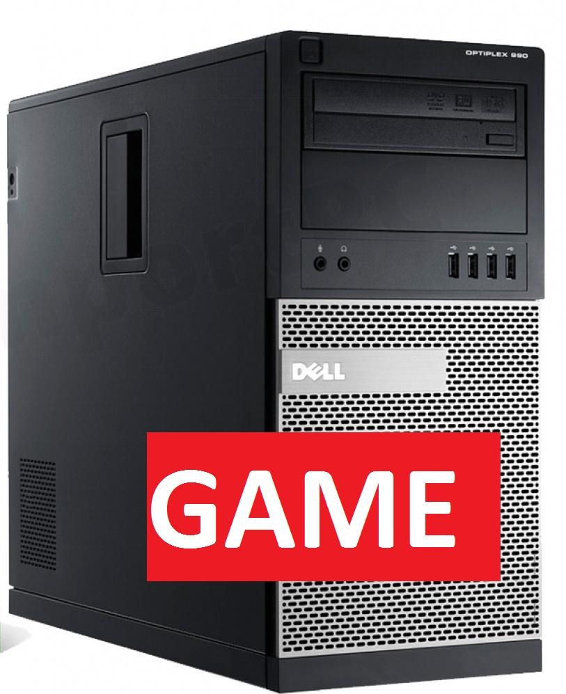 Herní PC Dell s Intel i5/ Nvidia GTX 1050Ti 4GB/ 8GB/ 320GB/ DVDRW/ W7/10 Pro